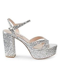 569e512747d0 QUICK VIEW. Miu Miu. Glitter Platform Sandals