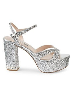 e81f853709e8 QUICK VIEW. Miu Miu. Glitter Platform Sandals
