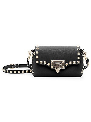e4f54369d29 Valentino Garavani - Rockstud Medium Leather Crossbody Bag - saks.com
