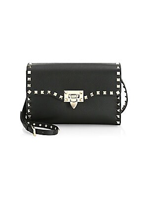 a23e338473a Valentino Garavani - Rockstud Leather Saddle Bag - saks.com