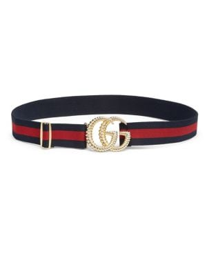 Piccadilly Moon Elastic Web Belt W/ Textured Gg Buckle in Multicoloured