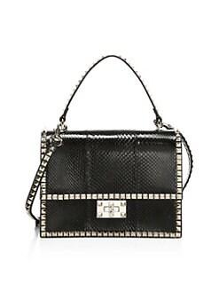 QUICK VIEW. Valentino Garavani. Rockstud Convertible Leather Shoulder Bag dcf80b5efd6de
