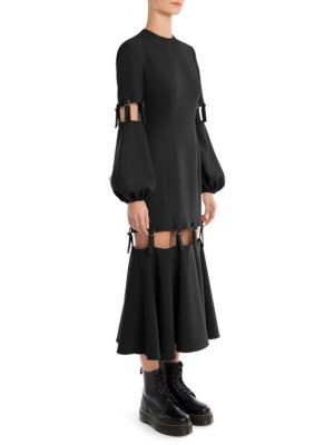 Full Sleeve Adjustable Midi Dress by Sara Battaglia