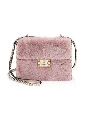 Valentino Garavani Small Rockstud No Limit Mink Shoulder Bag