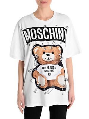 53319faa Moschino - Bear Logo T-Shirt - saks.com
