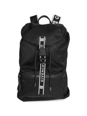 Men'S Light 3 4G Canvas Backpack in Black
