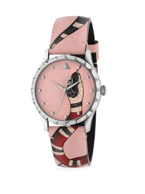 Gucci G Timeless Pink Snake Watch