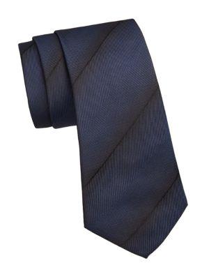 Ombre Stripe Silk Tie by Giorgio Armani