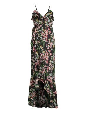 Floral Wrap Front Maxi Dress by Likely