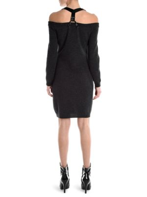 MOSCHINO Knits Knit Off-Shoulder Mini Dress