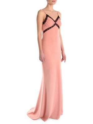 Moschino Gowns V-Neck Button-Back Gown