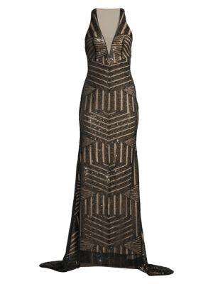Basix Black Label Graphic Mermaid Gown