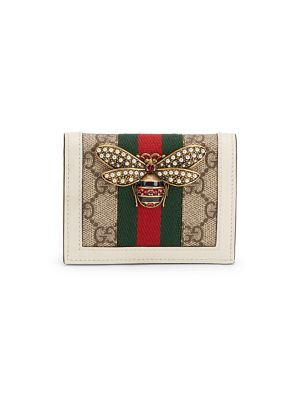 Gucci Queen Margaret Gg Supreme Card Case