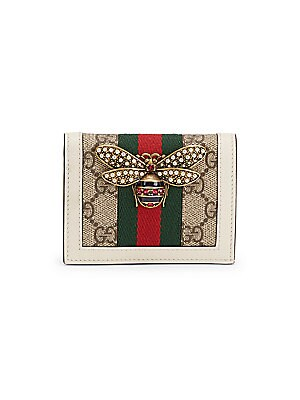 3cfb308b57c0fc Gucci - Queen Margaret GG Supreme Card Case - saks.com