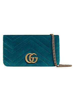 8f59270e10c4 Gucci - GG Marmont Velvet Wallet on Chain - saks.com