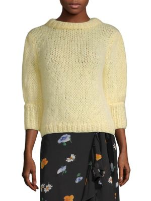 The Juliard Mohair And Wool-Blend Short Sleeve Sweater, Anise Flower