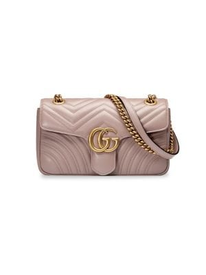 1a62a33c1ed2 Shoptagr | Small Marmont Matelasse Leather Shoulder Bag by Gucci