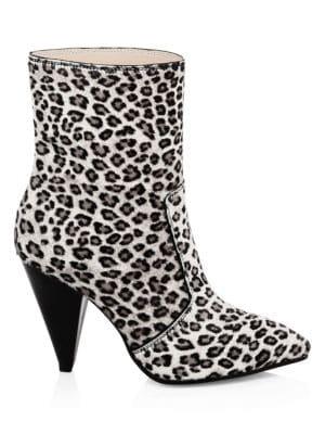 STUART WEITZMAN Atomic West Leopard-Print Calf Hair Ankle Boots in Leopard Print