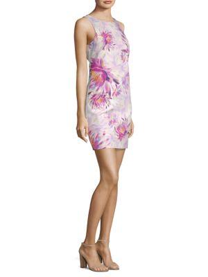 TRINA TURK Clemente Water Lily Twist-Back Dress in Multi
