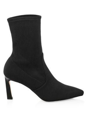 Women'S Rapture Mid Calf Stretch Sock Booties, Black