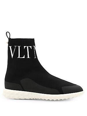 b3e79b83ae7 Valentino Garavani - Logo Leather Combat Boots - saks.com