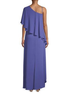 BCBGMAXAZRIA Dresses Draped One-Shoulder High-Low Dress