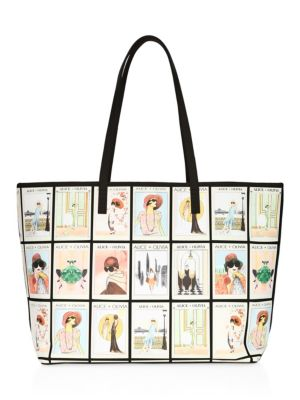 Alice And Olivia Missy Graphic Vintage Tote
