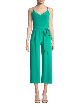 Jaelyn Silk Jumpsuit, Emerald