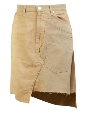 Chino Asymmetrical Skirt, Beige