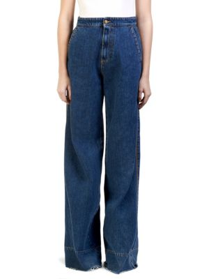High-Waist Oversized Flare-Leg Jeans in Blue