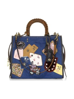 Rogue Exotic Denim Patchwork Bag, Multi