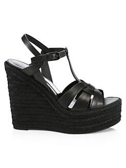 192aa539054a Saint Laurent. Tribute Espadrille Wedge Sandals