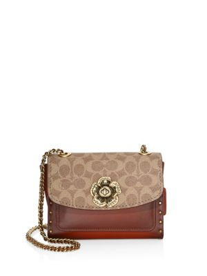 nice cheap united states on wholesale COACH - Parker Signature Coated Canvas & Leather Shoulder ...