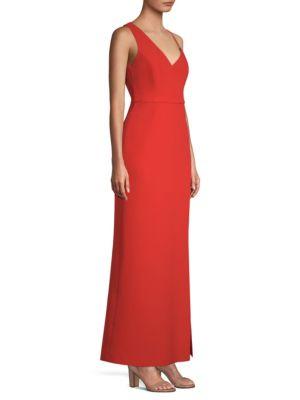 Asymmetric Shoulder Maxi Dress by Bcbgmaxazria