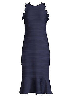 c73186f4bd2a Aidan Mattox - Floral Jacquard Sleeveless High-Low Midi Dress - saks.com