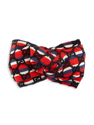 Baia Gg Stripe Turban, Sapphire/ Red
