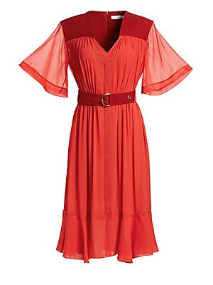 4241f3f5199fc Silvia Tcherassi - Lirio Puff-Sleeve Silk Dress - saks.com