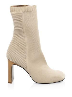 Ellis Slim-Knit Ankle Boot, Nude