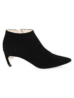 f179205b4aa4 Mira Faux Pearl Booties BLACK. QUICK VIEW. Product image. QUICK VIEW. Nicholas  Kirkwood
