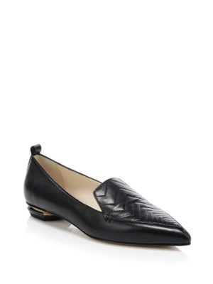 Beya Zig Zag Leather Loafers by Nicholas Kirkwood