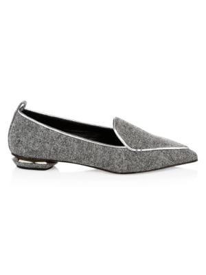 Beya 18Mm Felt Loafers, Grey