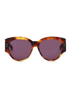Dior 54mm Lady Dior Studded Sunglasses