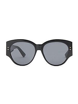 68a604b4ca97 Dior - Lady Dior Studs 54MM Square Sunglasses - saks.com