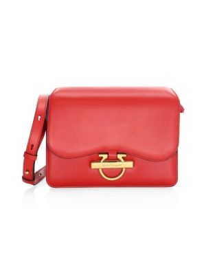 Flap Box Leather Shoulder Bag by Salvatore Ferragamo