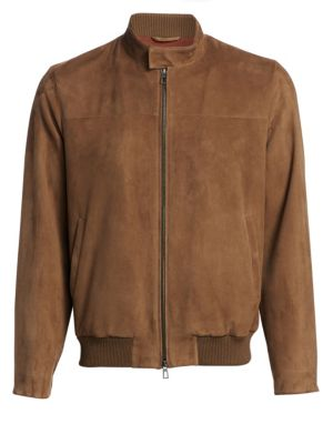 Men'S Skytree Suede Biker Jacket, Bark