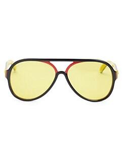 78ecd59a310 Gucci. 57mm Aviator Sunglasses