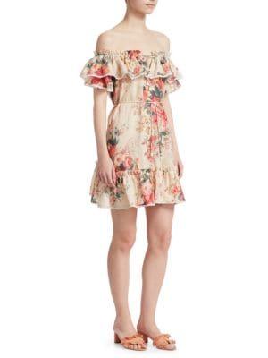 Laelia Frill Tier Mini Dress by Zimmermann