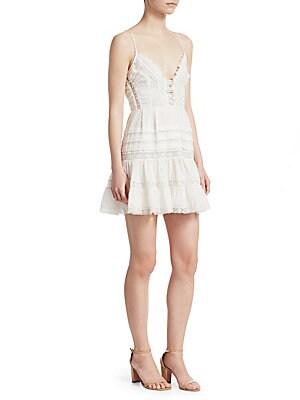 80ad5fad74 Zimmermann - Iris Lace Trim Mini Dress - saks.com