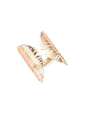 GINETTE NY 18K Rose Gold Ginkgo Ring
