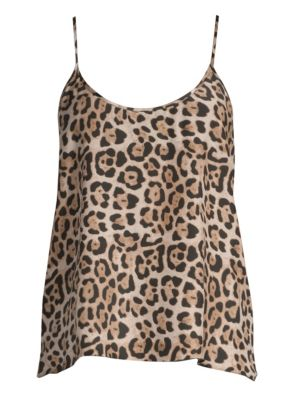 ATM ANTHONY THOMAS MELILLO Leopard-Print Silk Charmeuse Cami Top in Multi